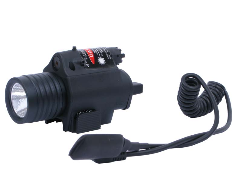 Tactical CREE Q3 LED Flashlight & Red Laser Sight (ZY-S)