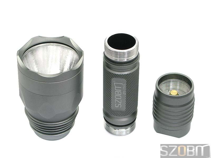 SZOBM ZY-750L SSC P7 LED Aluminum Flashlight