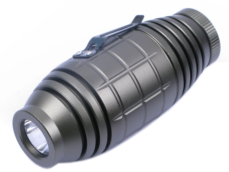 Handy High Power CREE Q3 LED 3-Mode Torch with Clip