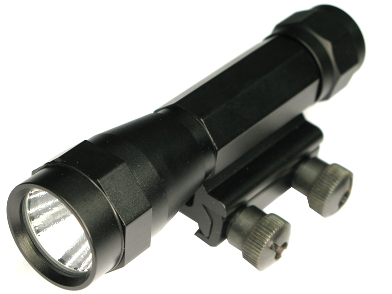 DT-001 CREE Q3 Aluminum LED Flashlight with Weaver Base