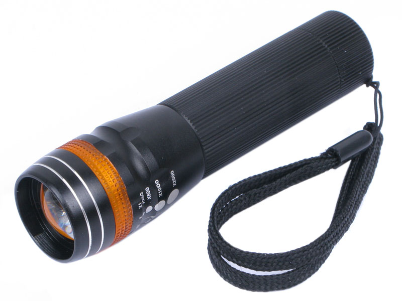 Aluminum 3W LED 1*AA 3-Mode Focus Flashlight