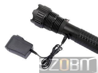 3 x CREE Q3 LED 5-Mode Rechargeable Flashlight