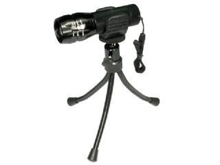 1W LED Aluminum Zoom Flashlight with Tripod