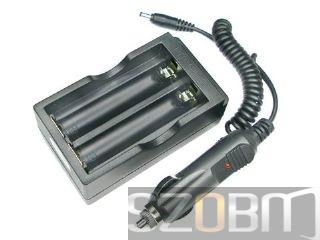 Li-ion 18650 Battery Charger with car Charger