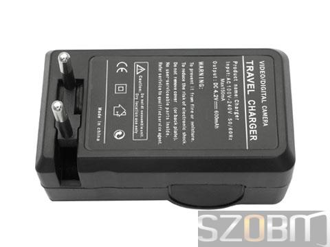 Digital Battery Charger & Travel Charger for 18650 (2 round pins