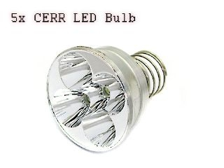 5x Q3 LED Bulb For WF-500/600 Flashlight